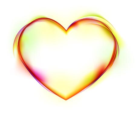 Heart shape on white background Ilustração