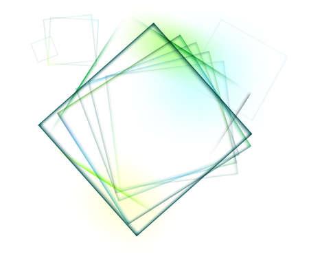 Diamond shape on white background