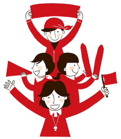 illustrating: Group of people showing the guidance