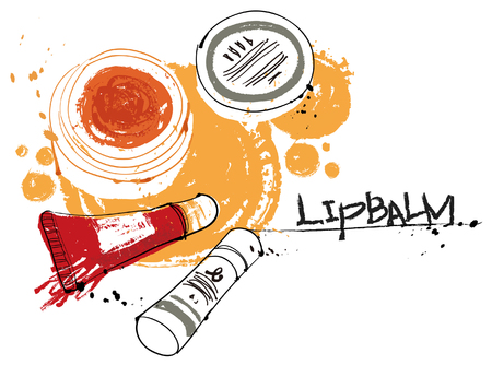 balm: Cosmetics, vector illustration isolated on white background.