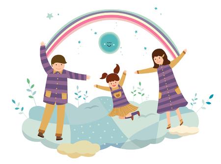 Family Bonding Illustration