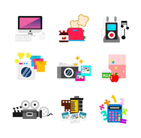 Electronic devices items Illustration