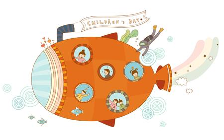 Close-up of submarine