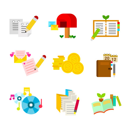 A variety of writing tools Illustration