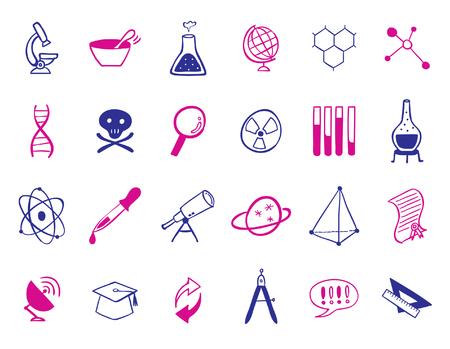 science Icon set Ilustração