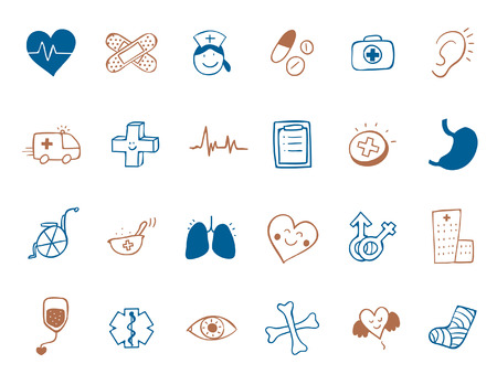 medicine Icon set Illustration
