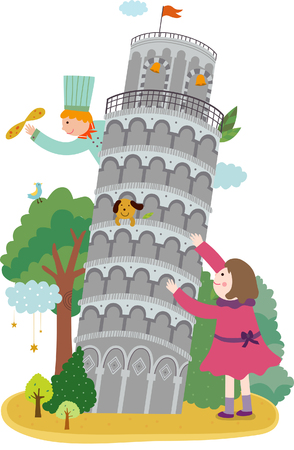 leaning tower of pisa: Tourist attractions of Italy