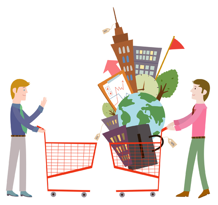 shopping chart: Foreign trade business