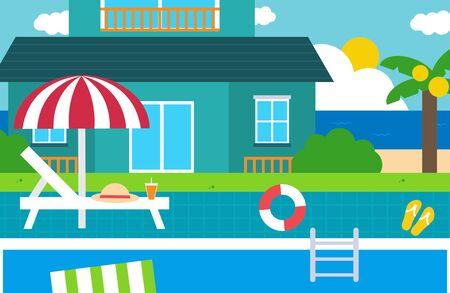 Summer vacation concept vector illustration