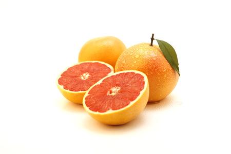 Fresh oranges - isolated on white Stock Photo