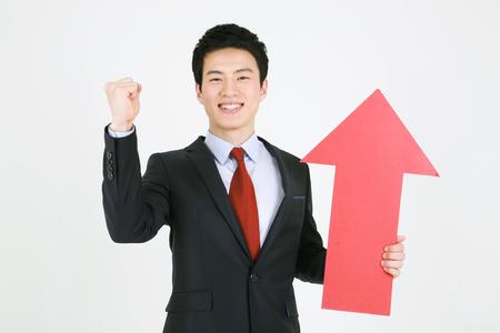 Aziatische zakenmensen in pak - geïsoleerd op wit