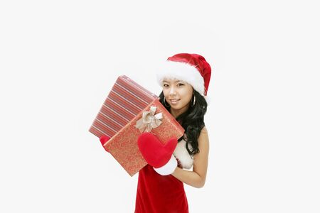 christmas santa concept- Isolated on studio shot