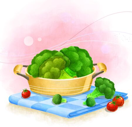 야채 - 브로콜리의 그림 스톡 콘텐츠