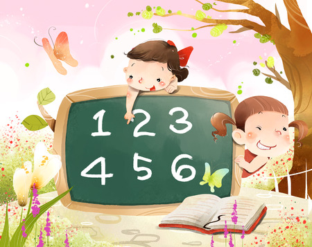 numerical: Girls learning numerical value