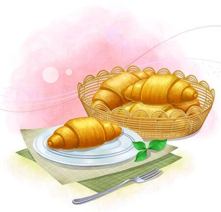 그림 빵과 파이 - 크루아상