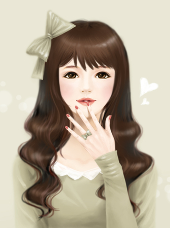 romantic: Romantic Girl