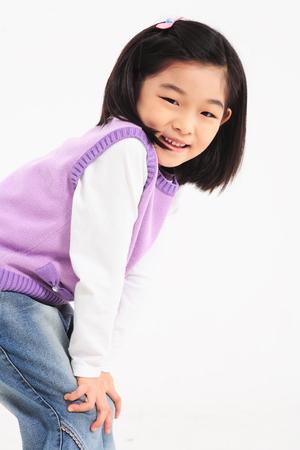 서 아시아 여자 웃 - 화이트 절연
