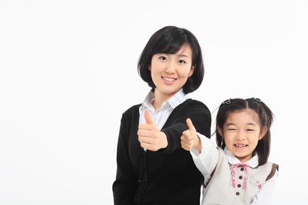 아시아 여자와 웃는 여자 - 화이트 절연