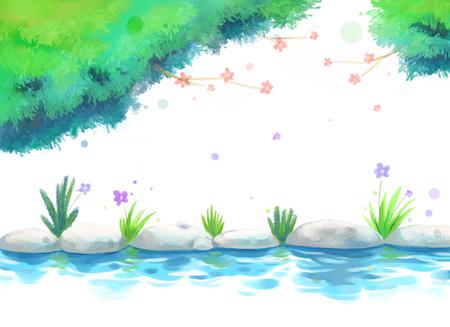 夏の概念ベクトル図  イラスト・ベクター素材