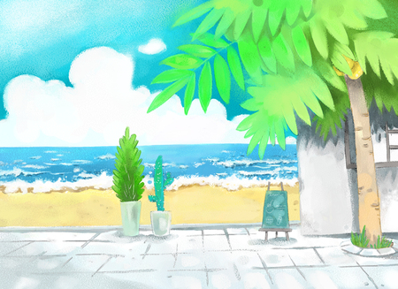 Summer concept vector illustration Illustration