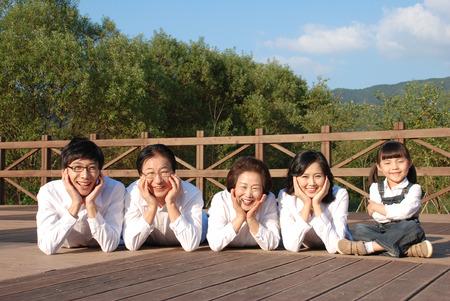 granddad: Happy asian family