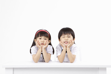 Asian kids with education concept- Isolated on studio shot 版權商用圖片 - 80622230