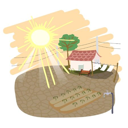 Weather vector illustration - sunny, hot, summer