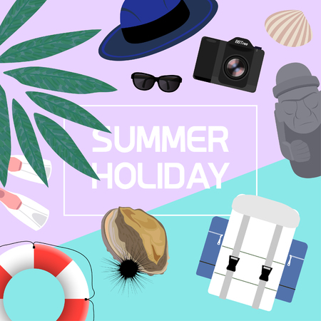 Summer Holiday concept template- vector illustrations Illustration