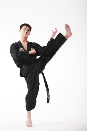 Asian martial art muay thai kung stock vector