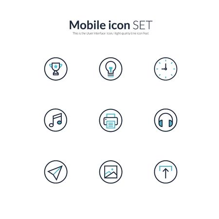 photo printer: Two tone icon set - Mobile icons