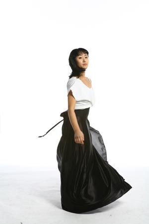 Beautiful asian female modern dancer - isolated on white Stock Photo