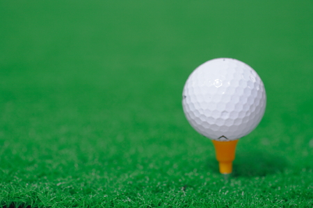 Isolated shot of a golf ball Stock Photo