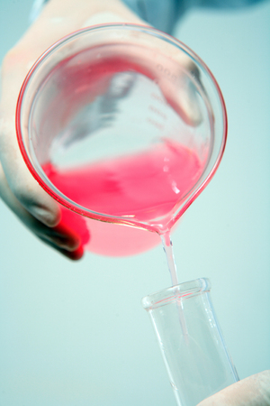 additional chemicals: Close-up shot of science experiment