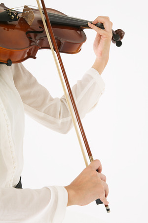 instrumentalist: Isolated shot of violinists hand