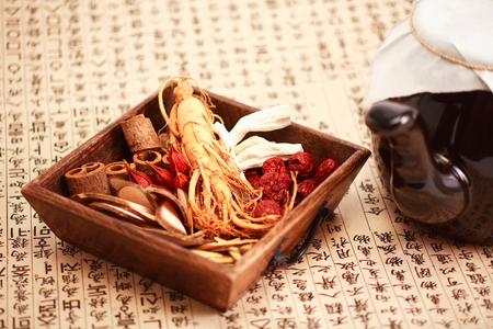 韓国の伝統的な薬の成分 写真素材