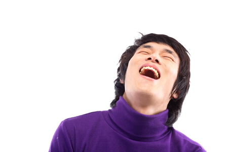 20 대 남자의 웃는 얼굴의 총을 닫습니다. 스톡 콘텐츠 - 83129967