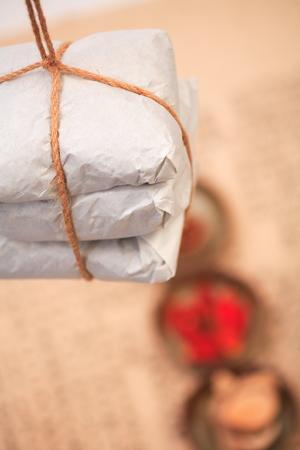 パッケージの韓国医学と食材