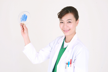 petri: Close up shot of A female surgeon holding a chalet