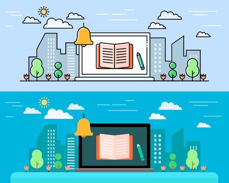Modern smart appliances concept vector illustration