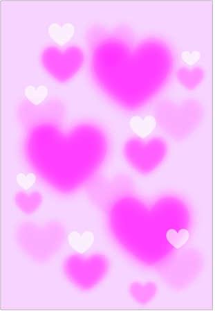 Digital graphic - heart pattern background Illustration