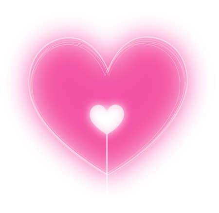 Pink heart vector illustration Illustration