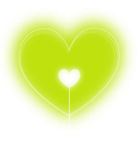 Green heart vector illustration Illustration