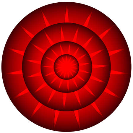 Digital graphic - Abstract red radial shape