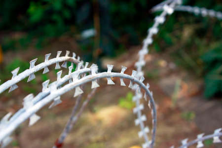 Close up shot of wire entanglements
