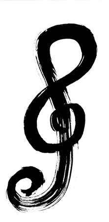 g clef: Oriental calligraphic drawing - musical noteG cleftreble clefviolin clef
