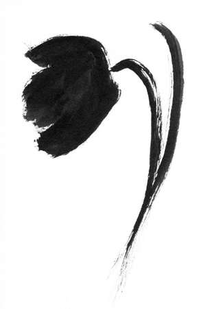 Asian calligraphy - Flower