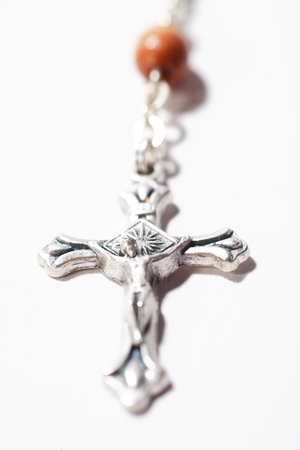 Close up shot of Isolated shot of crosses of rosary