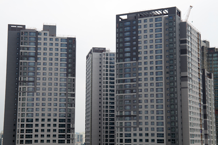 Korean apartment buildings construction siteKorean apartment buildings construction site