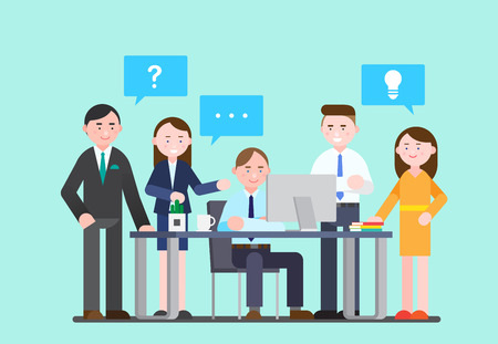 Business illustration - Meeting,conference at office