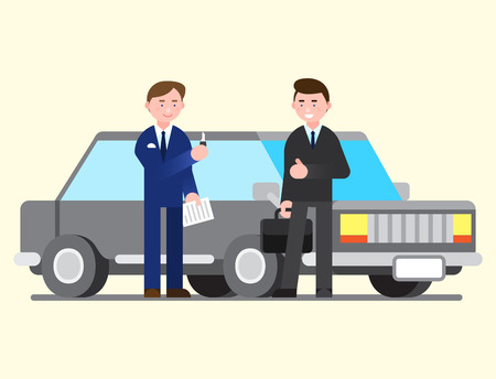 Business illustration - Automobile,car sales personnel